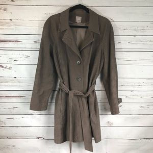 J Jill Jacket Trench Duster Womens Cotton Brown